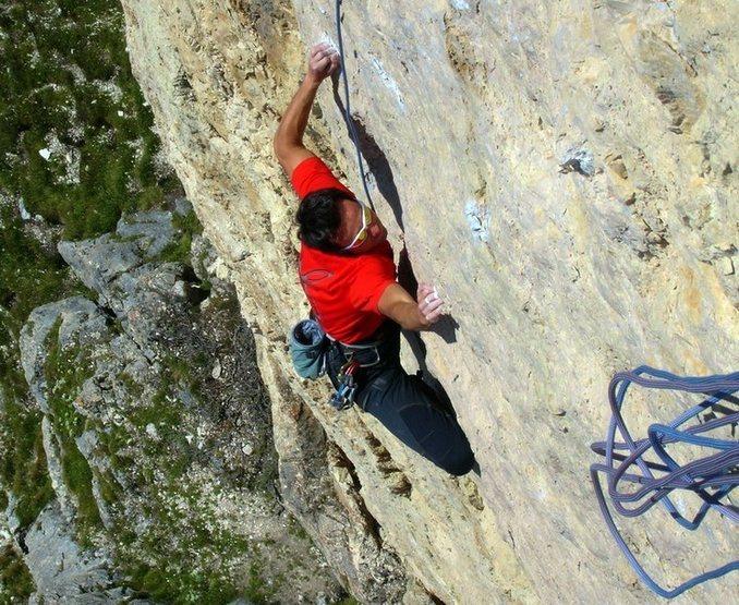"""Climbing on """"Ra Gusella di Giau"""" - Dolomites of Italy"""