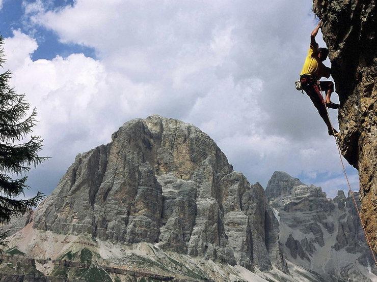 """Climbing on """"Torre Trephor"""" - Cinque Torri - Dolomites of Italy"""