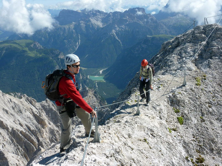 "Via ferrata ""Ivano Dibona"" on Mount Cristallo - Dolomites of Italy"