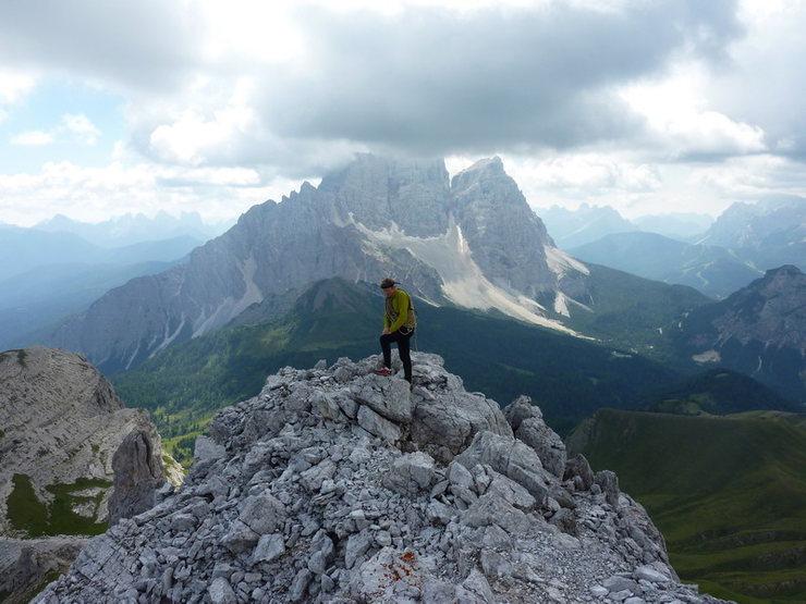 """Rock Climbing Photo: On the top of """"Becco di Mezzodì"""" - Dolo..."""
