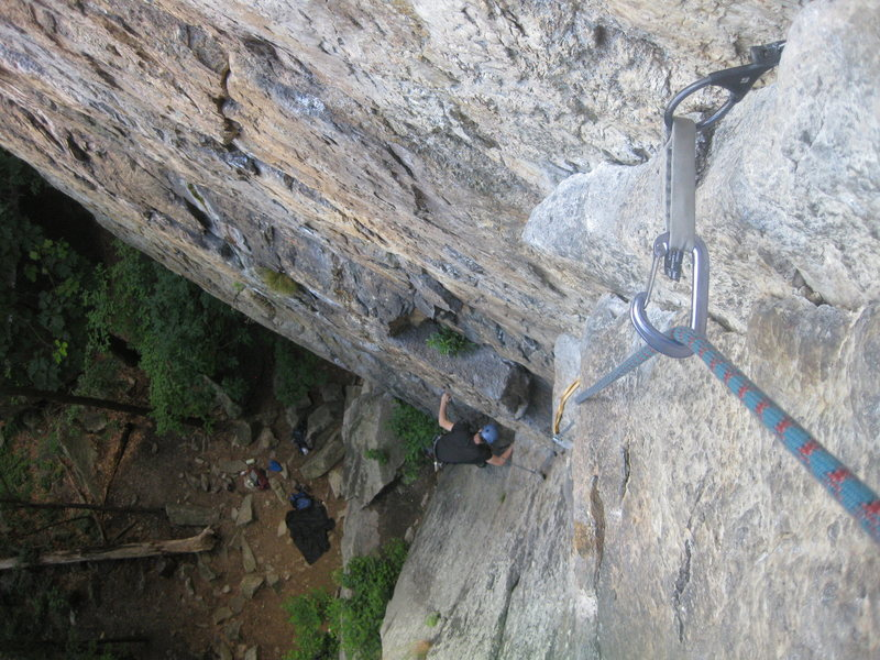 Rock Climbing Photo: We split it up into 3 pitches