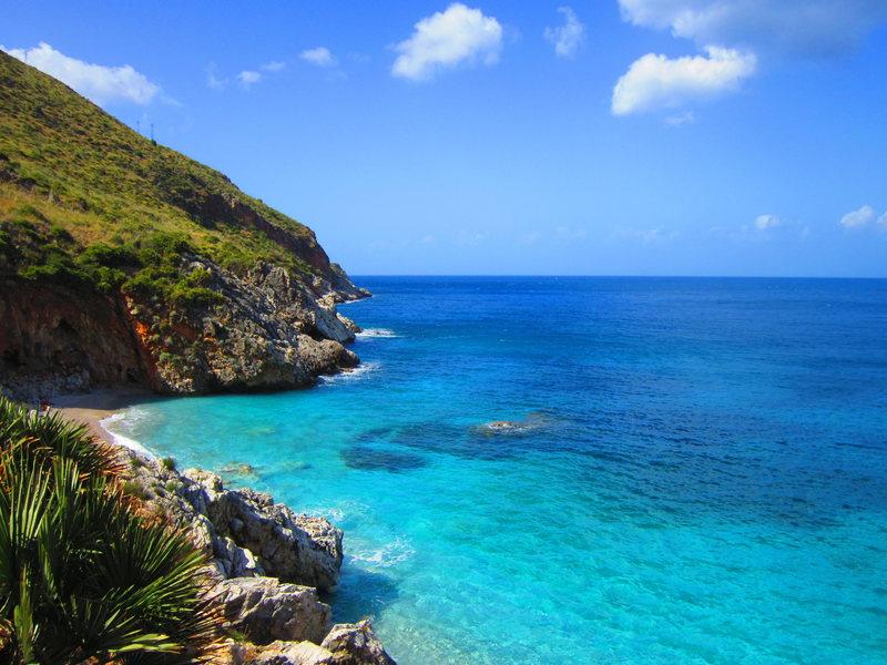 The beautiful coastline of the Zingaro National Park.