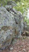 Rock Climbing Photo: Scadams boulder side view