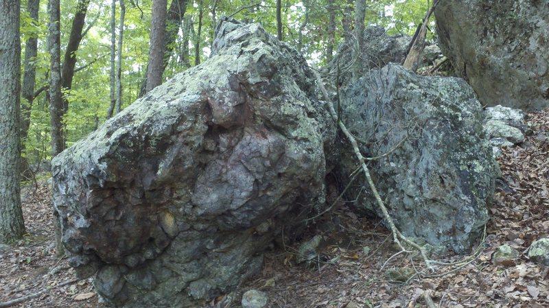 ramdom boulder next to scadams boulder<br>