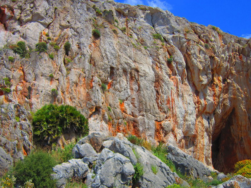 Rock Climbing Photo: Left side of the wall.