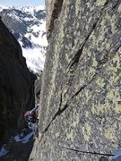Rock Climbing Photo: Near the first pitch of the Beckey Route. June 201...