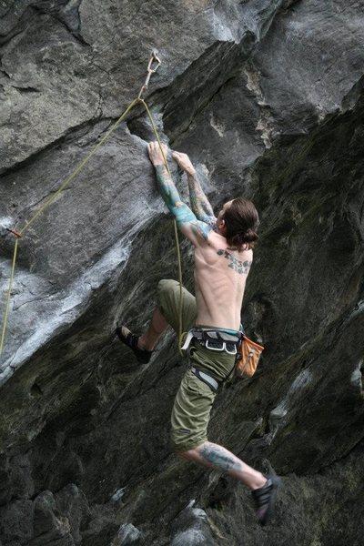 Rock Climbing Photo: me near the start