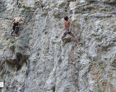 """Rock Climbing Photo: """"Jixiangsanbao"""" 5.13a, Mingshuiquan rout..."""