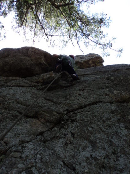 Rock Climbing Photo: Deb does some micro-exploring.