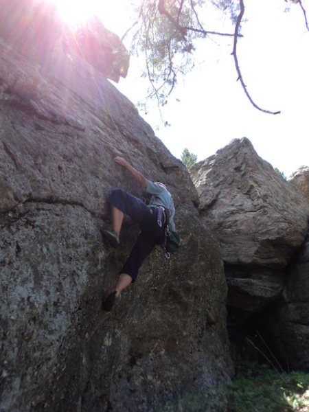 Deb gets into the crux sequence.