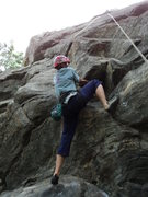 Rock Climbing Photo: Deb at the start.