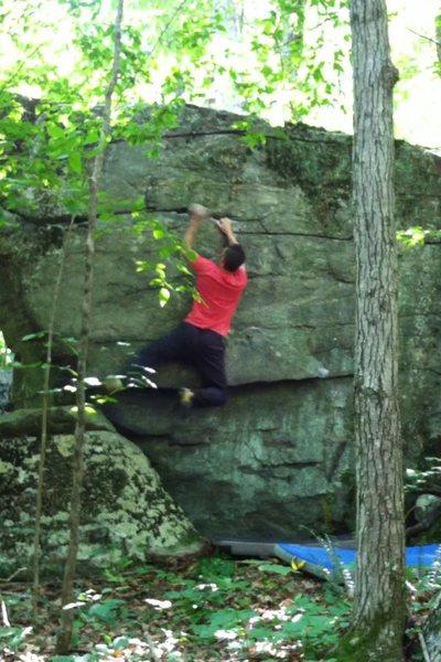 Rock Climbing Photo: campus move
