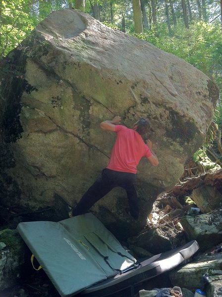 Rock Climbing Photo: still at this one, different beta. hard frickin pr...