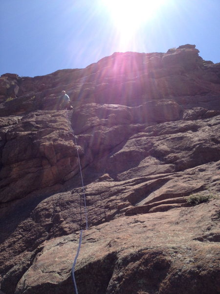 Rock Climbing Photo: Halfway up....