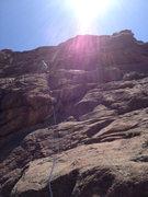 Rock Climbing Photo: Halfway up....