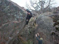 Rock Climbing Photo: tyson marshall v8 sit start