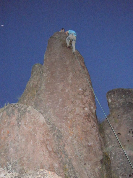 Rock Climbing Photo: lil top rope befor the FA