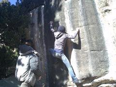 Rock Climbing Photo: melanie brun hooters v9