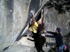Rock Climbing Photo: project death sceam left