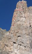 Rock Climbing Photo: This is the route that depicts mine and John's und...