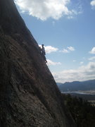 Rock Climbing Photo: About to set up belay below headwall pitch.