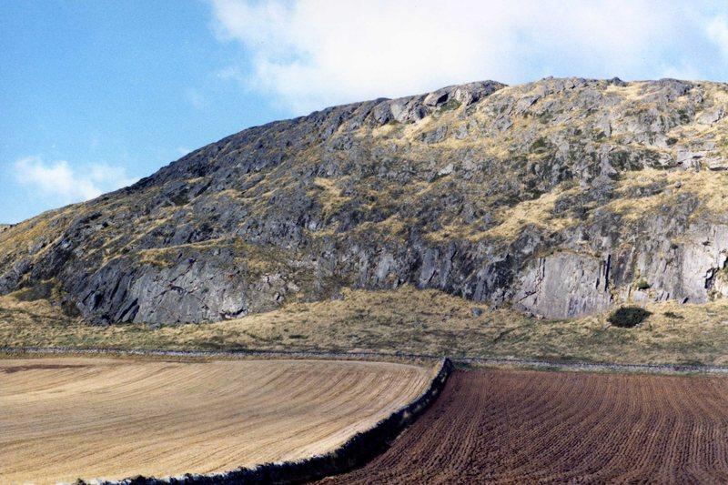 Rock Climbing Photo: Traprain Law back in 1985