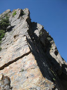 Rock Climbing Photo: Looking up the beautiful, exposed section of the r...