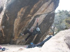 Rock Climbing Photo: good times in the right fork as tyson marshall wal...