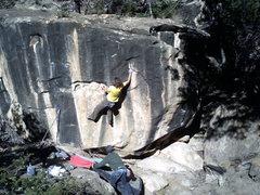 Rock Climbing Photo: isaac on the FA 2008