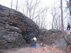 Rock Climbing Photo: The Alcove at Hammond Pond. December 2006.