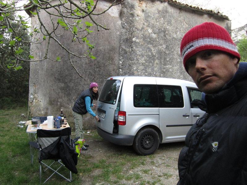 Camping at Monte Sordo.