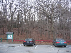 Rock Climbing Photo: The parking lot at Hammond Pond in December 2006. ...