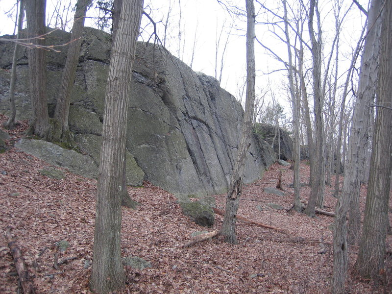 Rock Climbing Photo: Another view of the lower (main) wall. December 20...