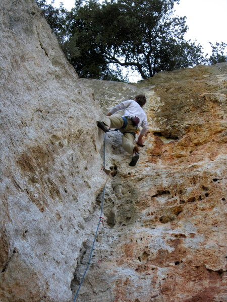 Rock Climbing Photo: Great route.