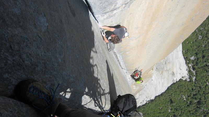Rock Climbing Photo: Jesse and Jeremy, about to send!