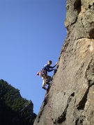Rock Climbing Photo: Walking the talk from a belay on Blackwalk passing...