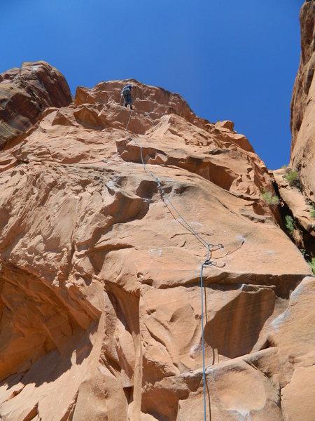Rock Climbing Photo: Potash fun warm up