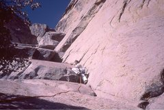 Rock Climbing Photo: Wedge (mid 1980s):  where is the stick...