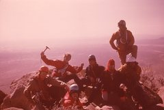 Rock Climbing Photo: Top of Gertch:  Spring Break 1975--photo by probab...