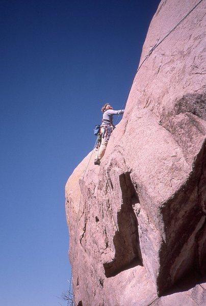 Rock Climbing Photo: Tooth:  Mark Motes, FA (fall 1984) of the left, ri...