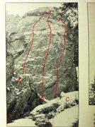 Rock Climbing Photo: A. Moonwalk, 5.11a, 10 bolts. B. Mission Control, ...