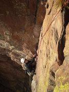Rock Climbing Photo: JB on pitch 5.