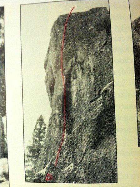 Rock Climbing Photo: D. Pablo's Arete, 5.12. Giant arete just left of U...