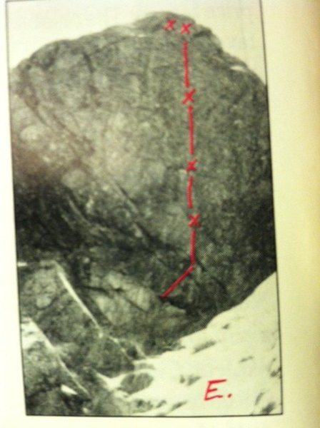 Rock Climbing Photo: Mystery route as per R&I #54.