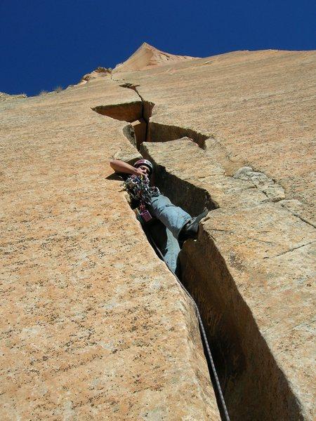 Rock Climbing Photo: headwall splitter