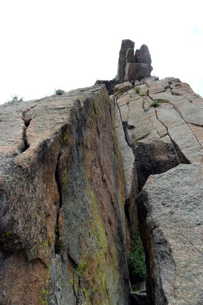 Rock Climbing Photo: The crux move is at the start of the route -- goin...