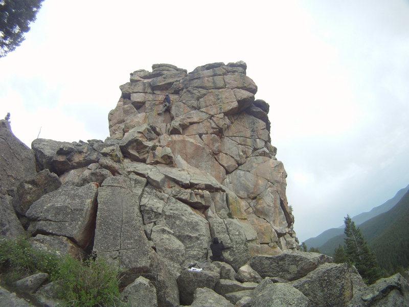 Rock Climbing Photo: Steeper than it looks but fun, it was raining, non...