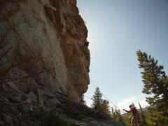 Rock Climbing Photo: Short Dude, lots of fun, too bad it's not twice as...