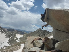 Rock Climbing Photo: Not highball bouldering but highCOUNTRY bouldering...