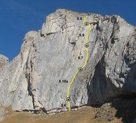 Rock Climbing Photo: Voie du Dièdre